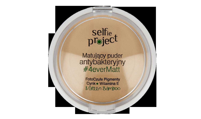Selfie Project, matujący puder antybakteryjny, 4everMatt