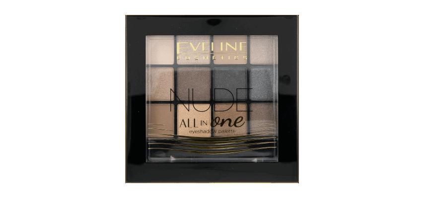 Eveline, All in one, paletka 12 cieni do powiek, nude