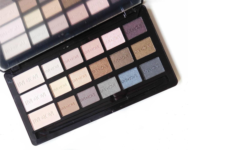 Live Love Makeup Obsession, Love Naked, paleta cieni do powiek w gamie nude