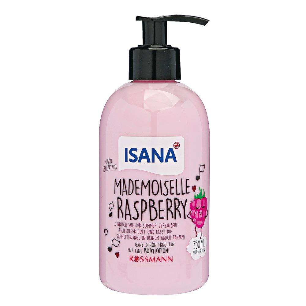 Isana, Mademoiselle Raspberry, balsam do ciała, malina